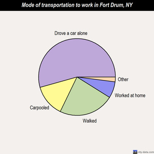 Fort Drum mode of transportation to work chart