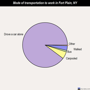 Fort Plain mode of transportation to work chart