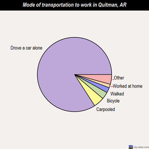 Quitman mode of transportation to work chart