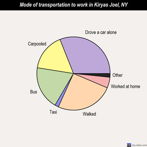 Kiryas Joel mode of transportation to work chart