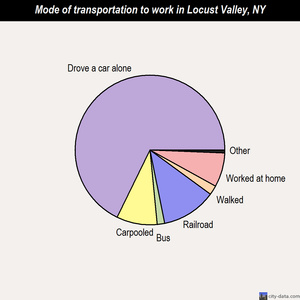 Locust Valley mode of transportation to work chart