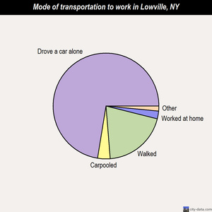 Lowville mode of transportation to work chart