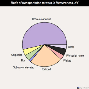 Mamaroneck mode of transportation to work chart