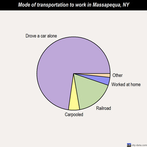 Massapequa mode of transportation to work chart