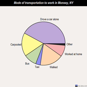 Monsey mode of transportation to work chart