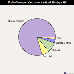 North Wantagh mode of transportation to work chart