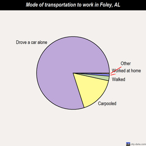Foley mode of transportation to work chart
