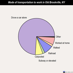 Old Brookville mode of transportation to work chart
