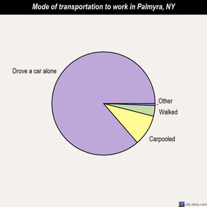 Palmyra mode of transportation to work chart