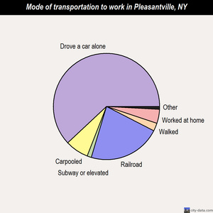 Pleasantville mode of transportation to work chart