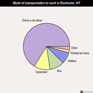 Rochester mode of transportation to work chart