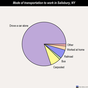 Salisbury mode of transportation to work chart