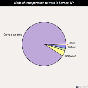Savona mode of transportation to work chart
