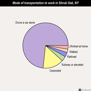 Shrub Oak mode of transportation to work chart