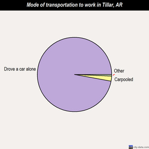 Tillar mode of transportation to work chart