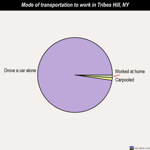 Tribes Hill mode of transportation to work chart