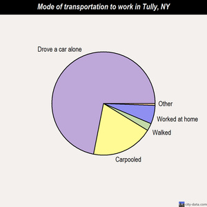 Tully mode of transportation to work chart