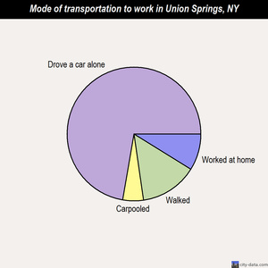 Union Springs mode of transportation to work chart