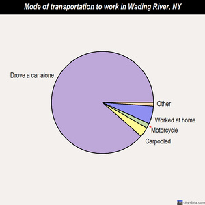 Wading River mode of transportation to work chart