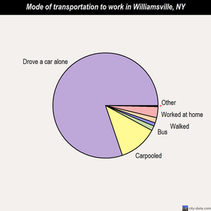 Williamsville mode of transportation to work chart