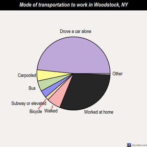 Woodstock mode of transportation to work chart