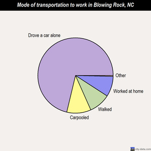 Blowing Rock mode of transportation to work chart