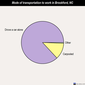 Brookford mode of transportation to work chart
