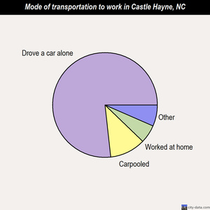 Castle Hayne mode of transportation to work chart
