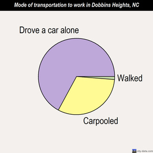Dobbins Heights mode of transportation to work chart