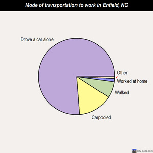 Enfield mode of transportation to work chart