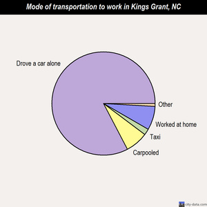 Kings Grant mode of transportation to work chart