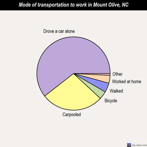 Mount Olive mode of transportation to work chart