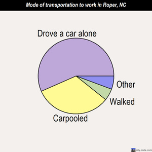 Roper mode of transportation to work chart