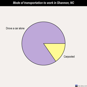 Shannon mode of transportation to work chart