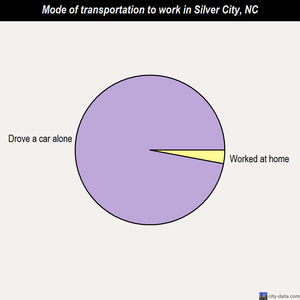 Silver City mode of transportation to work chart