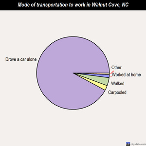 Walnut Cove mode of transportation to work chart