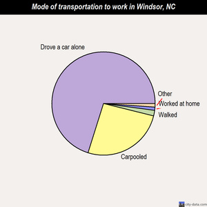 Windsor mode of transportation to work chart