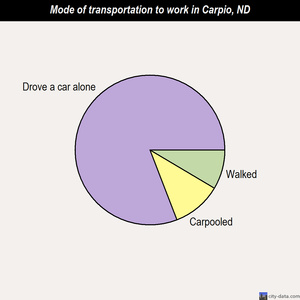 Carpio mode of transportation to work chart