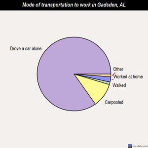 Gadsden mode of transportation to work chart