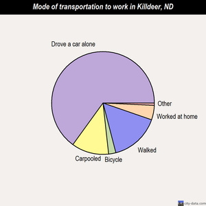 Killdeer mode of transportation to work chart