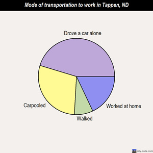 Tappen mode of transportation to work chart