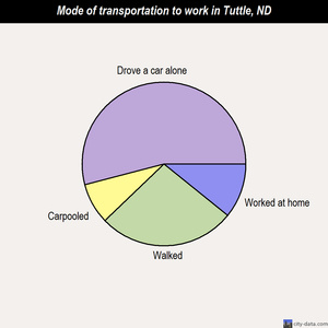 Tuttle mode of transportation to work chart