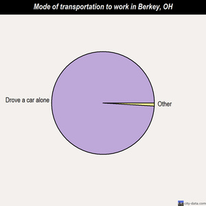 Berkey mode of transportation to work chart