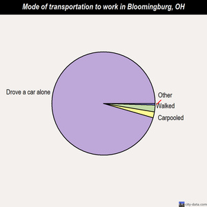 Bloomingburg mode of transportation to work chart