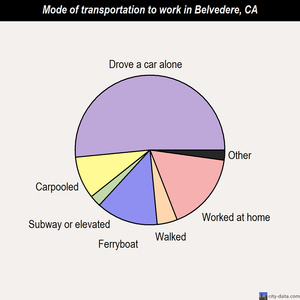 Belvedere mode of transportation to work chart