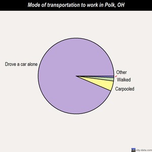 Polk mode of transportation to work chart