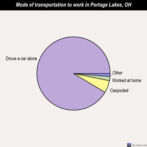 Portage Lakes mode of transportation to work chart