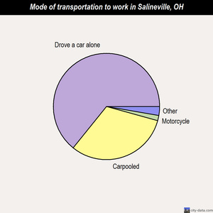 Salineville mode of transportation to work chart