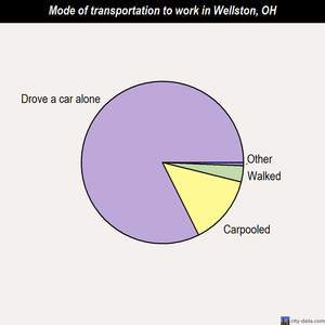 Wellston mode of transportation to work chart