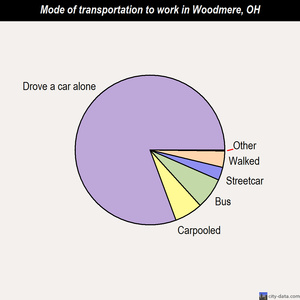 Woodmere mode of transportation to work chart